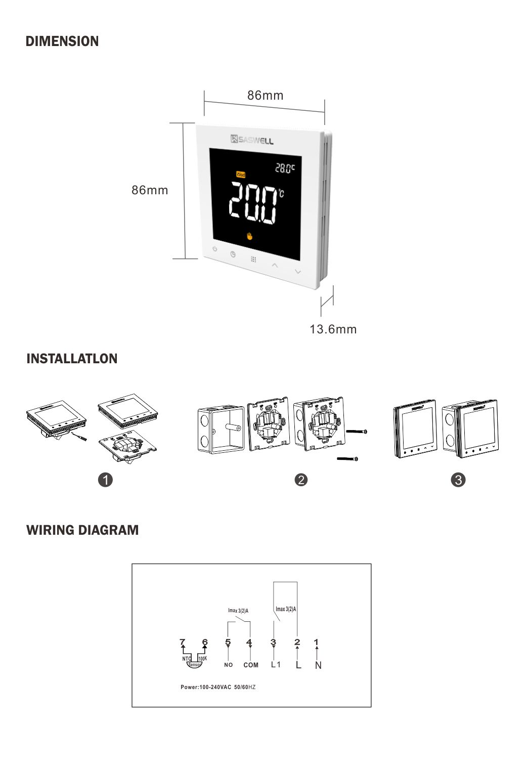 Wi-Fi 7-Day Programmable Thermostat